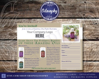 2016 COMPLIANT Printable Young Living Party Invitation - Live Everyday with Young Living Essential Oils