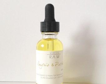 Amyris & Patchouli~beard oil/Facial hair care/Beard coditioner/Men's beard oil/Grooming oil/Mustache and beard oil/Men's skincare gift 1oz.