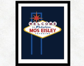 Star Wars Poster - Welcome To Fabulous Mos Eisley