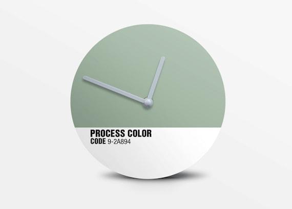 Hey Fishy -  Woodbine wall clock ( Pantone style designer clock)