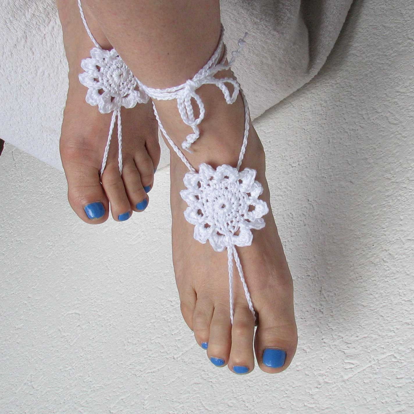 Ladies Barefoot Sandals Crochet Barefoot Sandals Bridal
