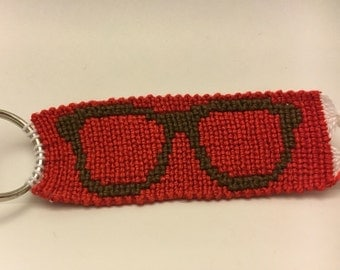Nerd Glasses Keychain