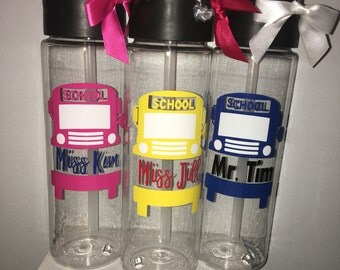 Bus Driver Gift - Personalized Bus Driver Gift - Bus Driver Water Bottle - Bus Driver Appreciation - Bus Driver Travel Cup - School Bus