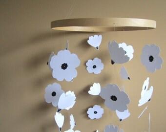Poppy Flower Mobile - Nursery Decoration - Room Decor