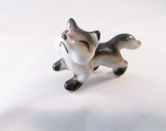 Porcelain Cat Figurine