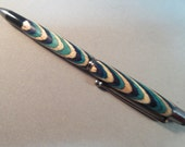 Hand Made Turned Color Grain Wood Slimline Twist Pen / Stylus Combo - Great  Gift Idea BALL POINT