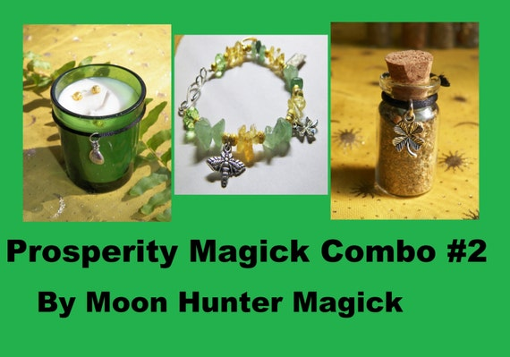 Prosperity Combo Kit #2 Money Drawing Ritual Charm Kit
