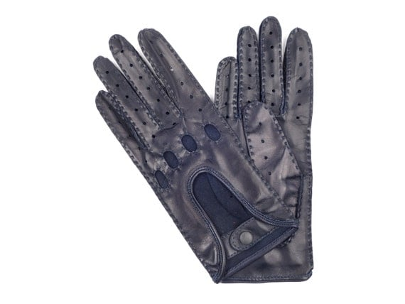 Women 39 S Navy Blue Lambskin Leather Driving Gloves By Pepemoda