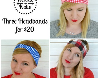 Three Headbands for Twenty Dollars