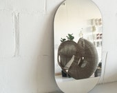 Modern Frameless Double Racetrack Mirror