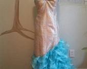Vintage Pageant Parade Queen Queen Mermaid Dress Sparkle Skirt