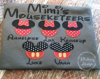 Gorgeous Custom embroidered Disney Mousketeers Shirts for the Family! 714