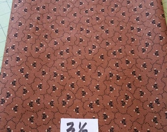 Quilting cotton fabric Brown