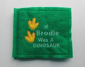 Personalized Book for Child or Baby - Felt Book - Dinosaur - Personalized Story Book - Baby Gift - Child Gift - Dinosaur Story