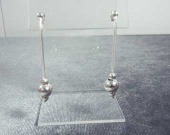 Sterling Silver Pierced Ball Earrings E34