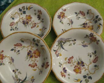 Wedgwood Devon Rose Berry or Pudding Dishes 5.75 inches Made in England