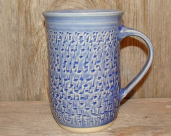 Textured Blue Coffee Cup