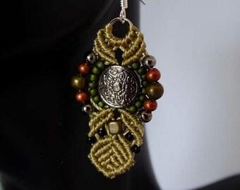 Metal and Moss Earrings