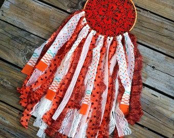 Large orange sunburst doliy dreamcatcher