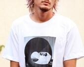Skateboarding Photo T Shirt - Size Large - Chris Miller - American Apparel