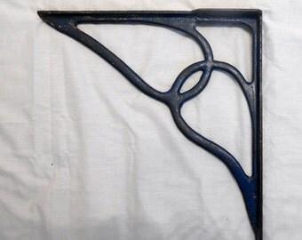Antique Cast Iron L Bracket Corbell Decorative Metal Architectural Salvage