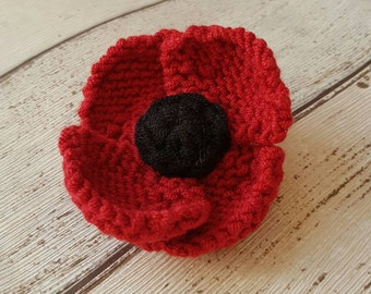 Red Poppy brooch, red flower pin, Remembrance day, Veterans Day, flower brooch, poppy, poppy jewellery, poppy corsage, gift for her