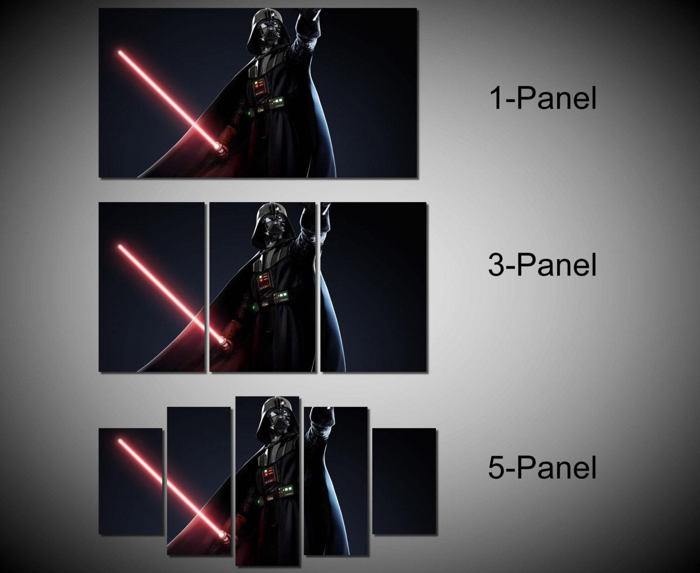 Framed Star Wars Darth Vader Anakin Skywalker Lightsaber Wall