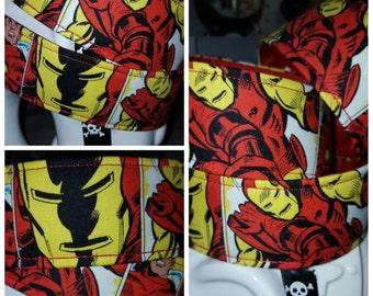 Geek Chic: IRONMAN Fabric Wrapped Dog Collar