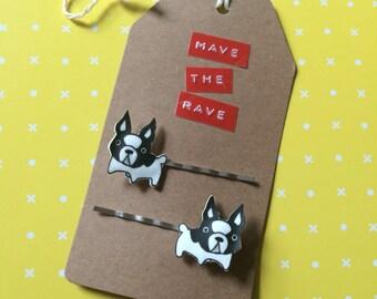 French Bulldog bobby pins