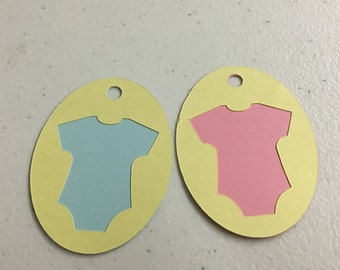 Baby T-Shirt Tags/Baby Shower/Boy/Girl/Reveal Baby Shower/Gift Tags/Gift Bag Tags