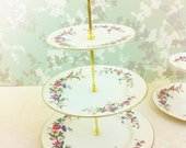"3 Tier cake Stand ""Devon Spray"" Wedgwood. Unused"