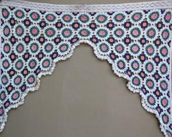 Sweet room decor, crotchet floral toran tassel fringe curtain decoration for window or door