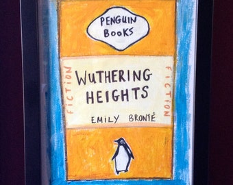 Original drawing.  Penguin Book - Wuthering Heights.  Literature, books