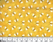 FREE SHIPPING - Bees fabric - yellow black - Charms by Patty Reed - Fabric Traditional - by the continuous YARD