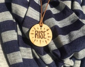 RISE wooden necklace- pendant necklace- Togetherness Project 2016 conference necklace