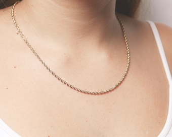 Gold chain necklace Dainty classy gold necklace Layering necklace vintage style necklace golf filled jewelry.