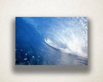 Funnel Wave Canvas Art, Wave Wall Art, Ocean Canvas Print, Ocean Wave Close Up Wall Art, Photograph, Canvas Print, Home Art, Wall Art Canvas