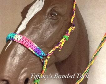 Tie down noseband, tie down, rainbow tie down, rainbow toe down, noseband and tie down strap
