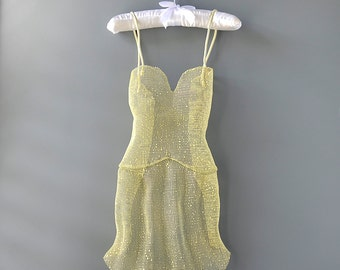 Dress wall decor, 3d wall art, Contemporary art, wedding dress sculpture, abstract art, yellow dress, home decor, Nightgown