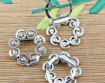 2pc tibetan silver tone 35.7mm delicate swirl clasp EF1885