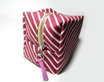 Make Up Cosmetic Bag Stripes