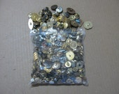 Mixed lot of Metal and plastic goldish colored buttons well over 200