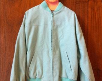 Pristine minty green vintage bomber jacket
