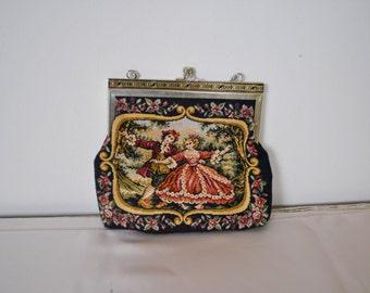 Vintage Tapestry Bag, Courting Tapestry Bag