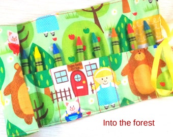 Crayon Roll / Pencil Roll / Pencil case / take and play / drawing / colouring / coloring / crafting