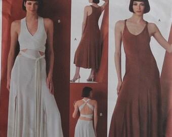 "Dress, Wrap Bodice by Donna Karan -2000's - Vogue Pattern 2861  Uncut  Sizes 18-20-22  Bust 40-42-44"""