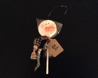Snowman pop ornaments