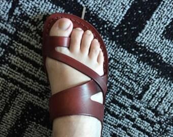Leather Sandals, Mens sandals, Mens leather sandals, Men sandals, JERICHO, Jesus Sandals, Flip Flops