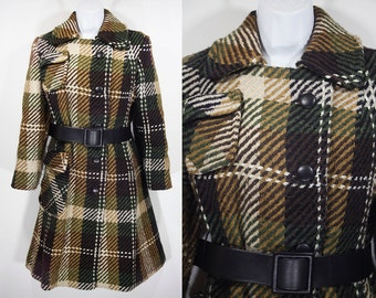 Vintage 60's Double Chested Tweed Coat M