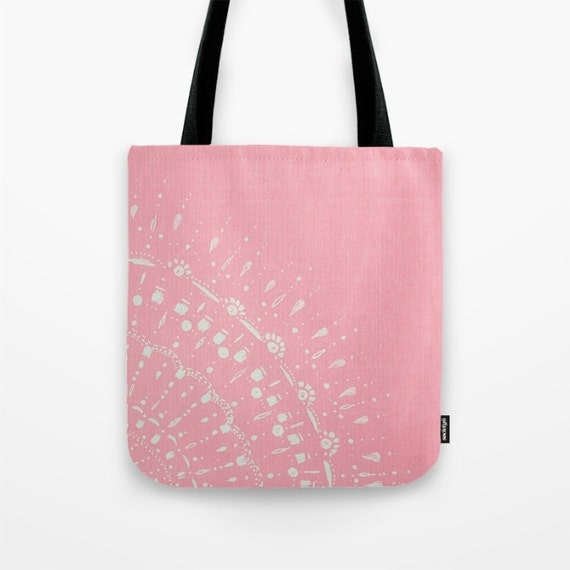 pink tote bag light pink bag pastel tote bag large pink bag small. Black Bedroom Furniture Sets. Home Design Ideas